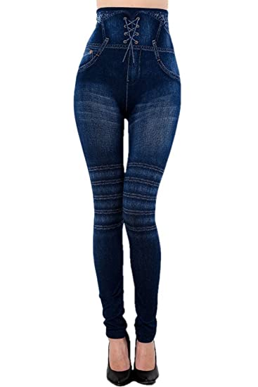 cheapest great discount sale official photos New Mix Women's Denim Printed Jeggings Leggings