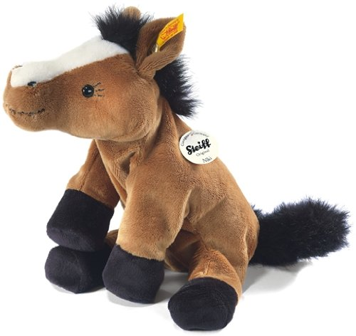 Steiff's little floppy Niki horse, brown