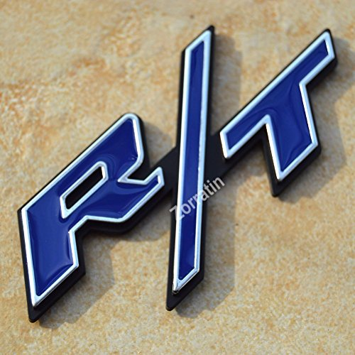 zorratin Special Chrome Trim Matt Black R//T RT Side Fender Trunk Emblem Badge w//Sticker for Dodge Challenger Charger Avenger SRT