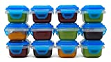 #3: SnapLock Mini Baby Food Storage Containers, Set of 12, 3 ounces each