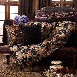 Amazon Com Ralph Lauren Home Amelia Black Floral Ruffle