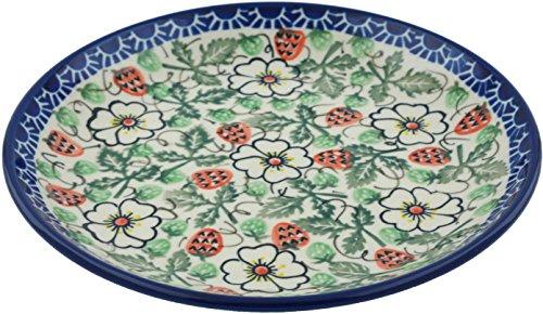 (Polish Pottery Dessert Plate 8-inch Strawberry Delight UNIKAT)