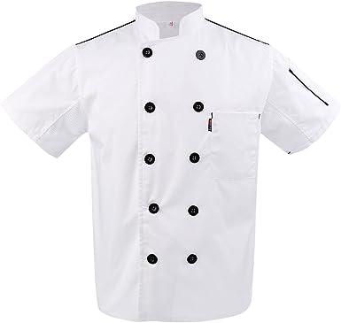 Baoblaze Uniforme de Chef Ropa Camiseta con Mangas Cortas ...