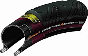 Continental Grand Prix 4 Season Road Bike Tire - Vectran Puncture Protection, DuraSkin Sidewall Protection, All Season Replacement Clincher Tire (23c, 25c, 28c, 32c)