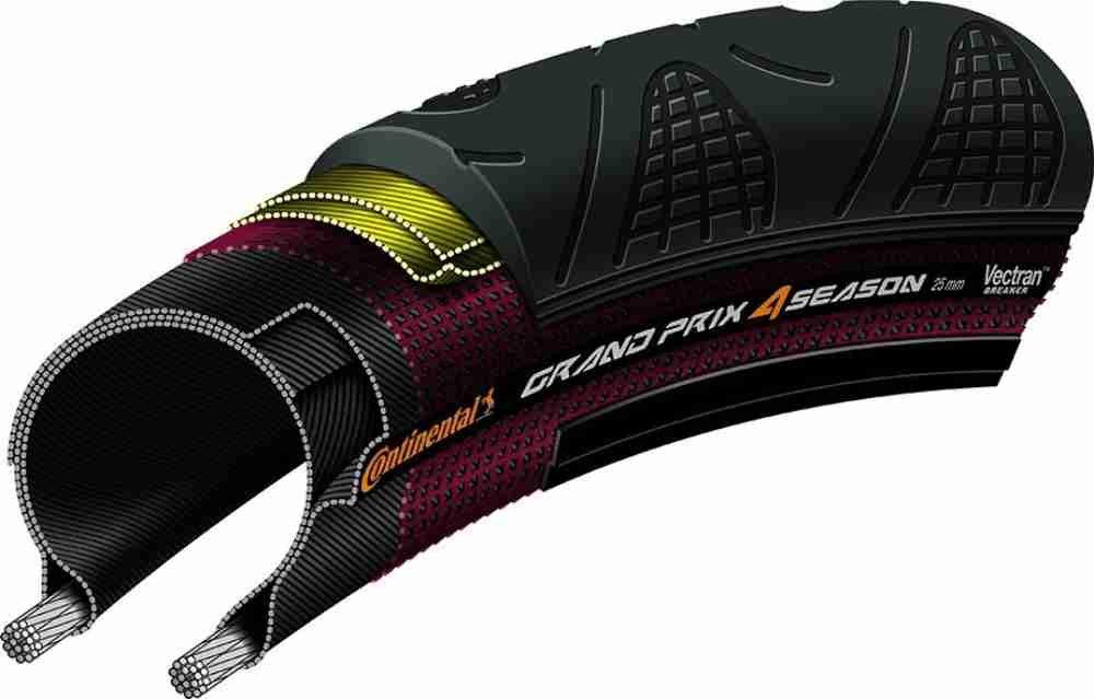 Continental Grand Prix 4 Season Road Clincher, 700 x 32-Inch, Black