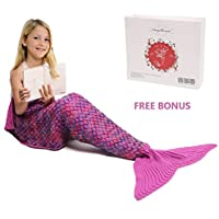 Mermaid Tail Blanket, Amyhomie Mermaid Blanket Adult...