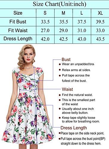 Yafex Estilo 15 Mujer Para Floral Vestido 3 w7wa0A