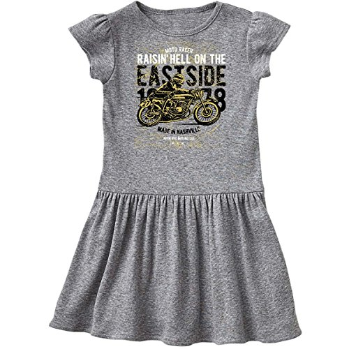 inktastic - Raisin Hell Moto Racer Infant Dress 24 Months Heather Grey 2c4fc (Infant Raisin Girl)