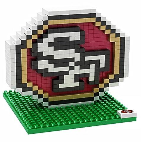 NFL San Francisco 49ers Mini BRXLZ Logo Building Blocks, One Size, Red - San Francisco 49ers Nfl Football