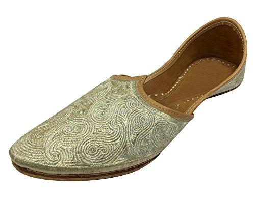 Étape N Style Hommes Pakistanais Aladdin Mojari Courbé Orteils Khussa Chaussure Jooti Jalsa Juttis
