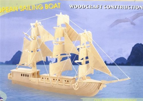 European Sailing Boat Woodcraft Construction Kit by Human