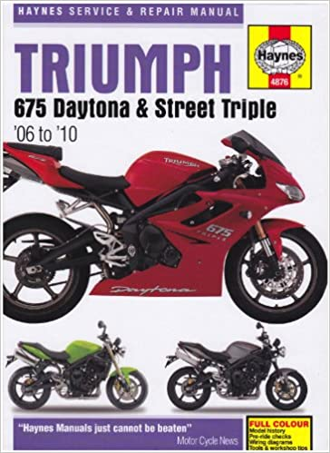 Triumph 675 daytona and street triple service and repair manual triumph 675 daytona and street triple service and repair manual 2006 to 2010 haynes service and repair manuals matthew coombs 9781844258765 fandeluxe Choice Image