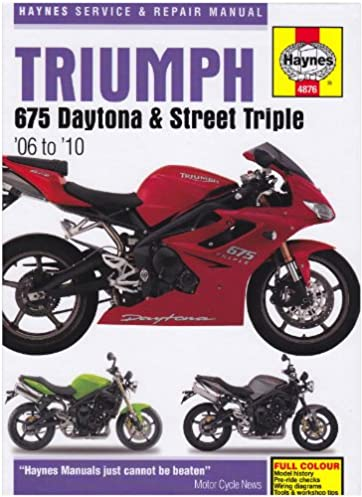 triumph 675 daytona and street triple service and repair manual rh amazon com 2015 triumph street triple r owner's manual triumph street triple r owners manual pdf