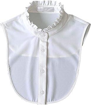 Dragon Troops Cuello Falso de la Camisa Blanca clásica de la Manera, Cuello Falso de la Camisa Blanca, Blanco: Amazon.es: Deportes y aire libre