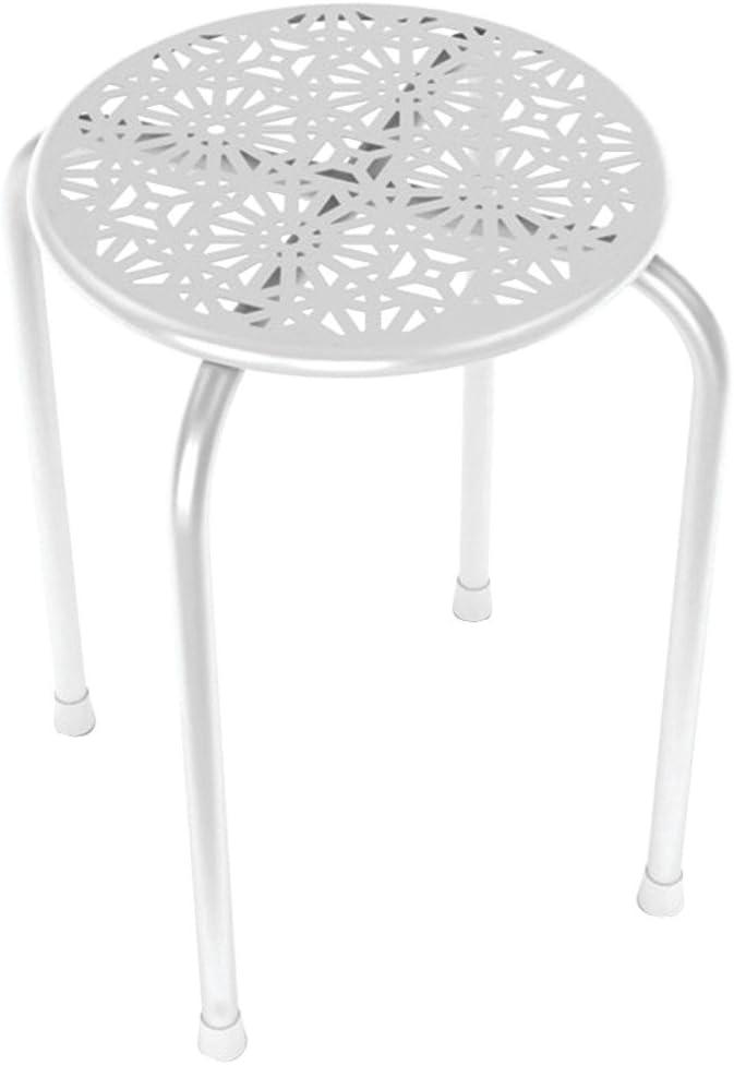 ATLANTIC 38436110 Daisy Design Metal Stool 2 pk electronic consumer White