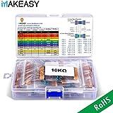 Conjunto de Resistores VANYE Resistencias Electrónicas 17 Valores 1% Surtido de Kit de Resistencia para Bricolaje y Experimentos, 0 Ohm-1M Ohm (Paquete de 525), Pin (0.022 Pulgadas, ø0.55 mm)