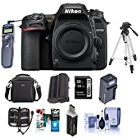 Nikon D7500 DX-format Digital SLR Camera Body, Black - Bundle With 32GB SDHC Card, Camera Bag, Spare Battery, Remote Shutter Release, Cleaning KIt, Tripod Memory Wallet, Software Package, And More