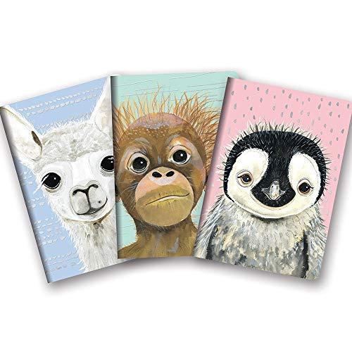 Studio Oh! Notebook Trio of 3 Coordinating Designs Available in 12 Bundles, Rachel Brown Baby Animals