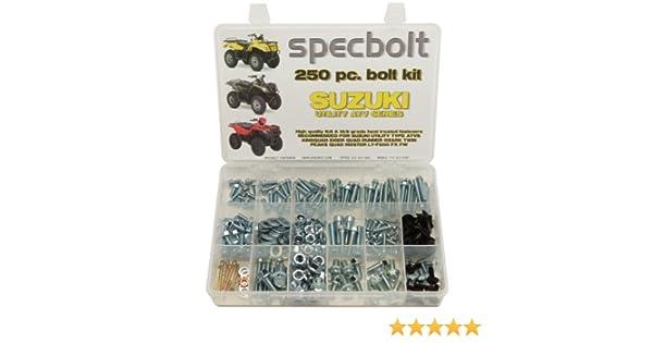 Suzuki Specbolt Fasteners 120pc Bolt Kit King Quad Eiger Quadrunner Ozark Twin Peaks Quadmaster LT-F500 FX FW model series Utility ATV