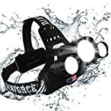 DanForce Headlamp, Brightest Head Lamp Providing 1080 Lumens with 3 Original Led. 2