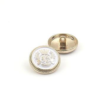 Metall Gold Schwarz Schaft Tasten Coat Pullover DIY Löwen