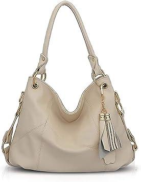 beige femme Supa Moden sac /à bandouli/ère en toile Hobo Sacs fourre-tout sac /à main