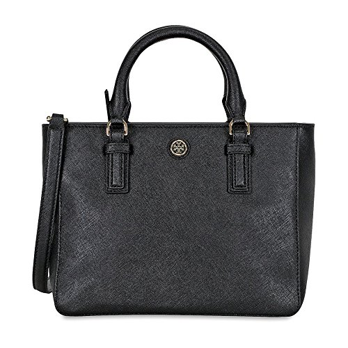 Robinson Mini - Tory Burch Women's Robinson Mini Square Tote, Black, One Size