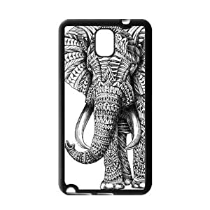 Black and White Aztec Elephant Protective Gel Rubber Cover Case for SamSung Galaxy Note 3