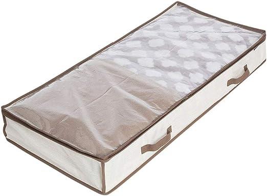 IVHJLP Cajas de almacenaje Bolsa de almacenamiento extra grande debajo de la cama con cremallera, organizador de tela plegable resistente para ropa de cama, edredones, mantas, almohadas, suéteres, 41.: Amazon.es: Hogar