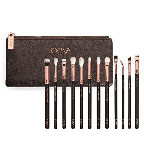 ZOEVA Rose Golden Complete Eye Set - 12 Makeup Brushes and Set Bag
