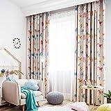 Cartoon Anime boy Girl Bedroom Digital Print Children's Curtain Shade Cloth (Size : 1.5 * 2.7m)