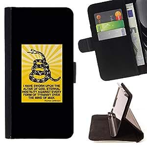 BullDog Case - FOR/Samsung Galaxy S6 / - / snake god serpent Christian man Christ /- Monedero de cuero de la PU Llevar cubierta de la caja con el ID Credit Card Slots Flip funda de cuer