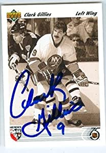 Autograph 212287 New York Islanders Sc 1992 Upper Deck No. 640 Clark Gillies Autographed Hockey Card