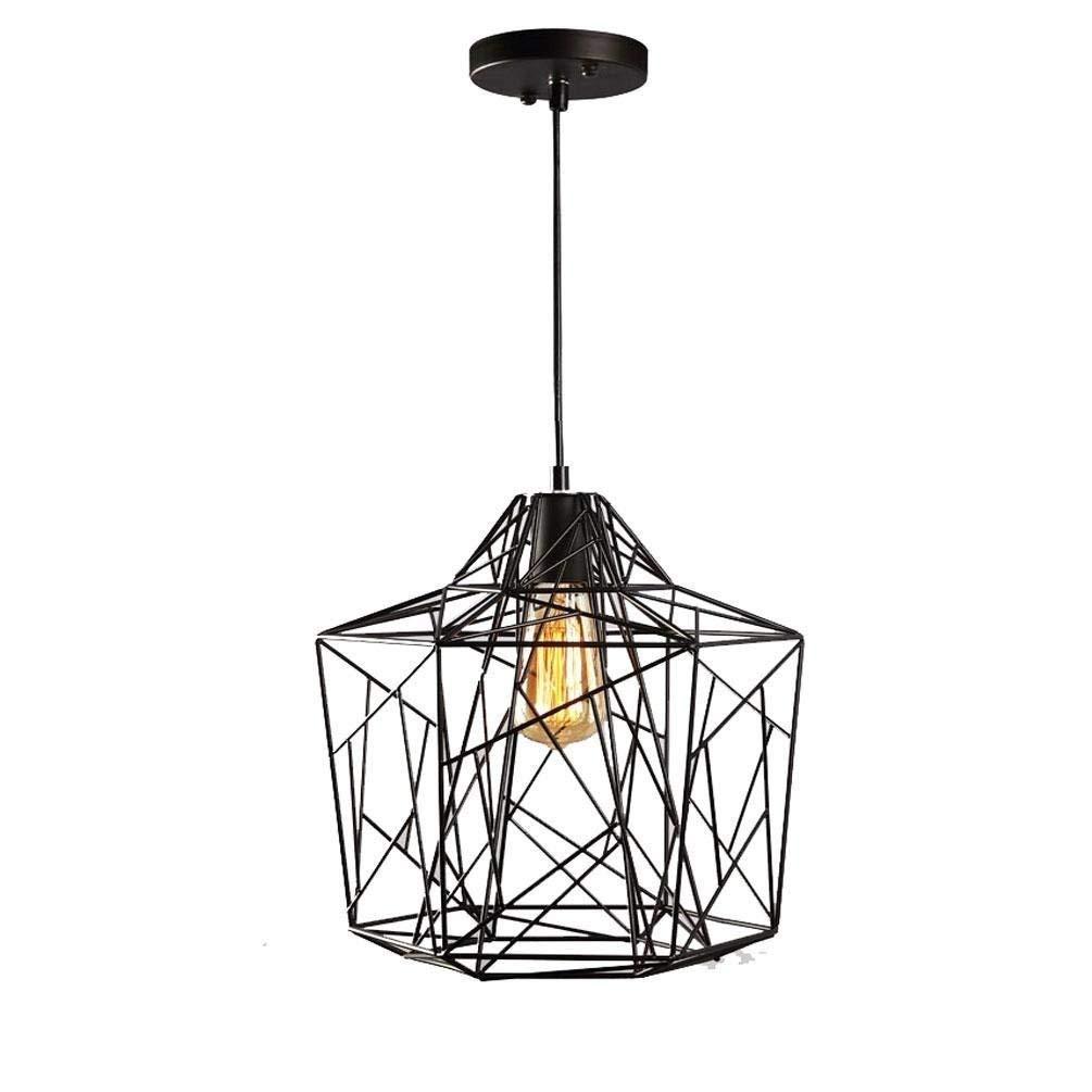 AINI ビンテージ天井のスポットライト、台所ロフトのオフィスのレストランホテルのためのレトロの産業銅の鳥かご B07RRYHJXY