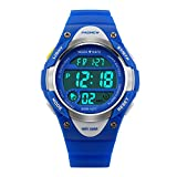 Hiwatch Kids Sport Watch Outdoor Waterproof Swimming LED Digital Watch with Alarm Back Light Stopwatch for Boys Girls 7+ Years Old Blue, Best Gift for Kids Christmas (Blue)