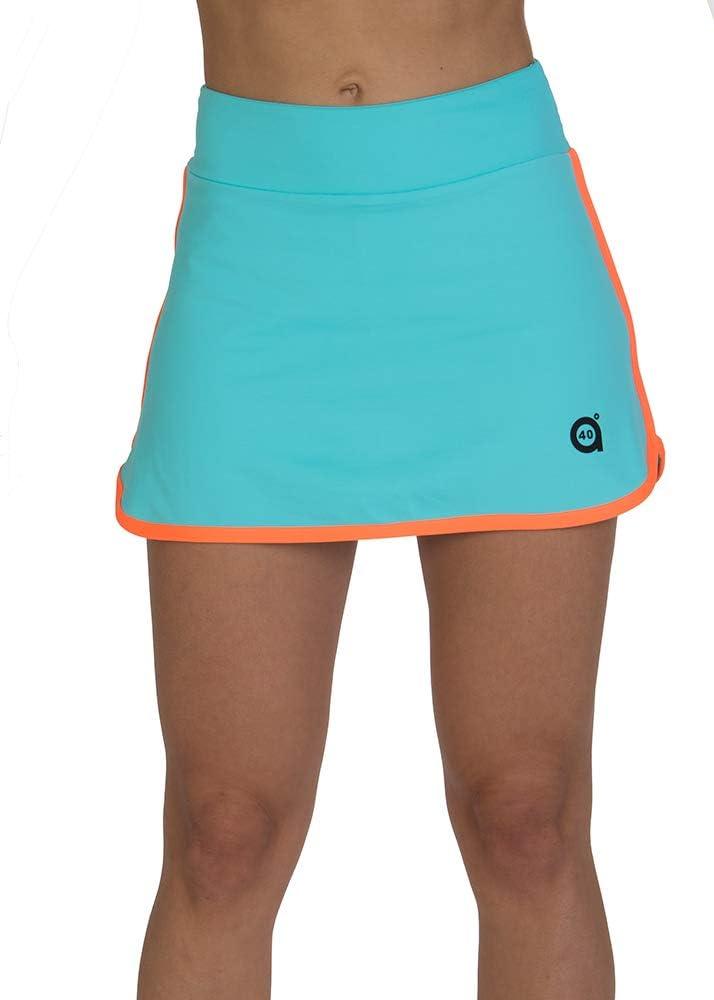 a40grados Sport & Style, Falda Fluss Celeste, Mujer, Tenis y Padel ...