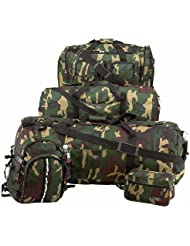 ExtremePak LUCAMSET 5 Piece Camouflage Army Design Luggage Set