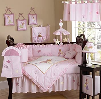 Amazon Com Fairy Tale Fairies Pink Baby Girl Bedding 9pc Set