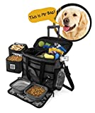 Rolling Dog Travel Bag - Week Away Tote With Wheels For Med And Large Dogs (Black)