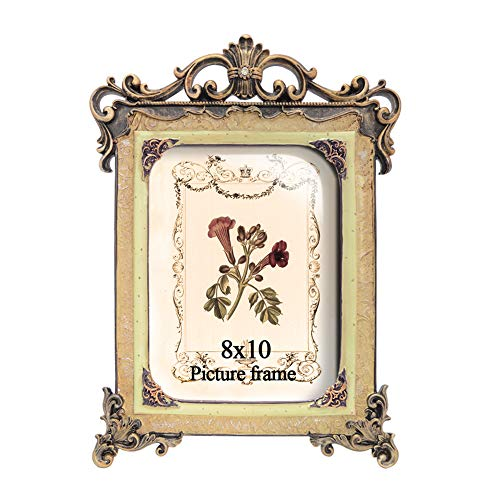 PETAFLOP 8x10 Tabletop Picture Frames Europe Picture Frame for 8 by 10 Photo (Frame Victorian Antique)