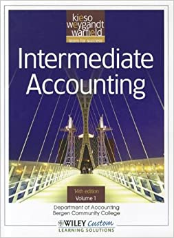 Book Intermediate Accounting 14th Edition Volume 1 for Bergen Community College