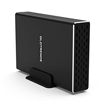Externo SATA USB Caja Raid - GLOTRENDS 25R-C USB-C Gen2 3.1 10G/BPS Disco Duro Externo 2 bahía Raid Caja para HDD/SSD de 2,5 Pulgadas