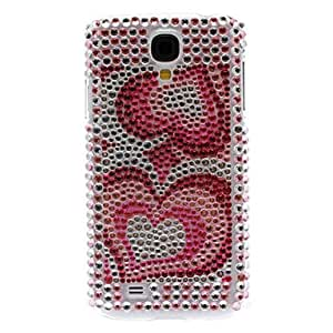 GJY Rhinestone Decorated Double Heart Pattern Hard Case for Samsung Galaxy S4 I9500