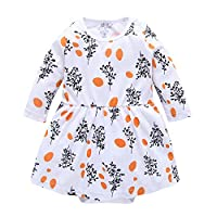 AMSKY? Newborn Baby Outfits for Boys,Baby Kids Girls Long Sleeve Dress Toddler Princess Party Print Tutu Dress