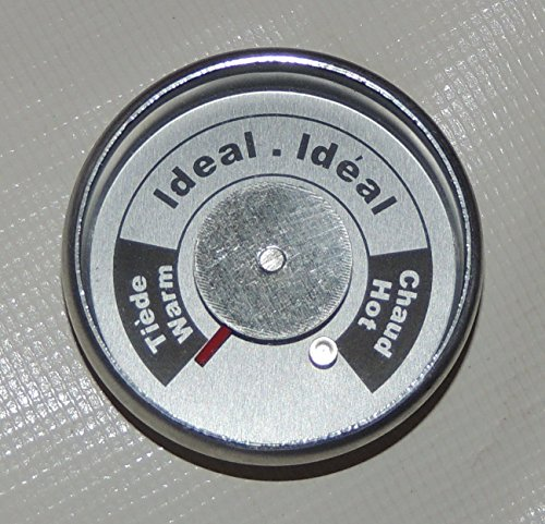 Brinkmann Upright Smoker Temperature Gauge All-In-One Round W/ tabs (Brinkmann Replacement)