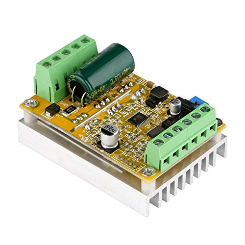 DC Brushless Motor Controller, Yeeco DC 6-50V 380W Brushless DC Motor Speed Regulator Control Module 12V 24V 36V 48V High Power BLDC Speed Motor Controller Driver Board with Heat Sink