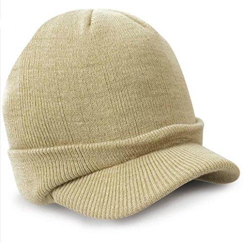 AIMTOPPY Mens Ladies Warm Wooly Winter Beanie Hat Cadet Ski Cap (Cadet Beanies)