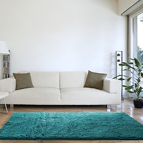 Lavish Home High Pile Shag Rug Carpet - Seafoam - 30x60