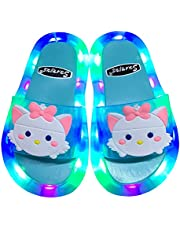 Children LED Light Sandals, Boys Girls Lightning Luminous Beach Slippers, Anti Slip Bath Shower Sandals Kids Flip Flops Kids Water Shoes
