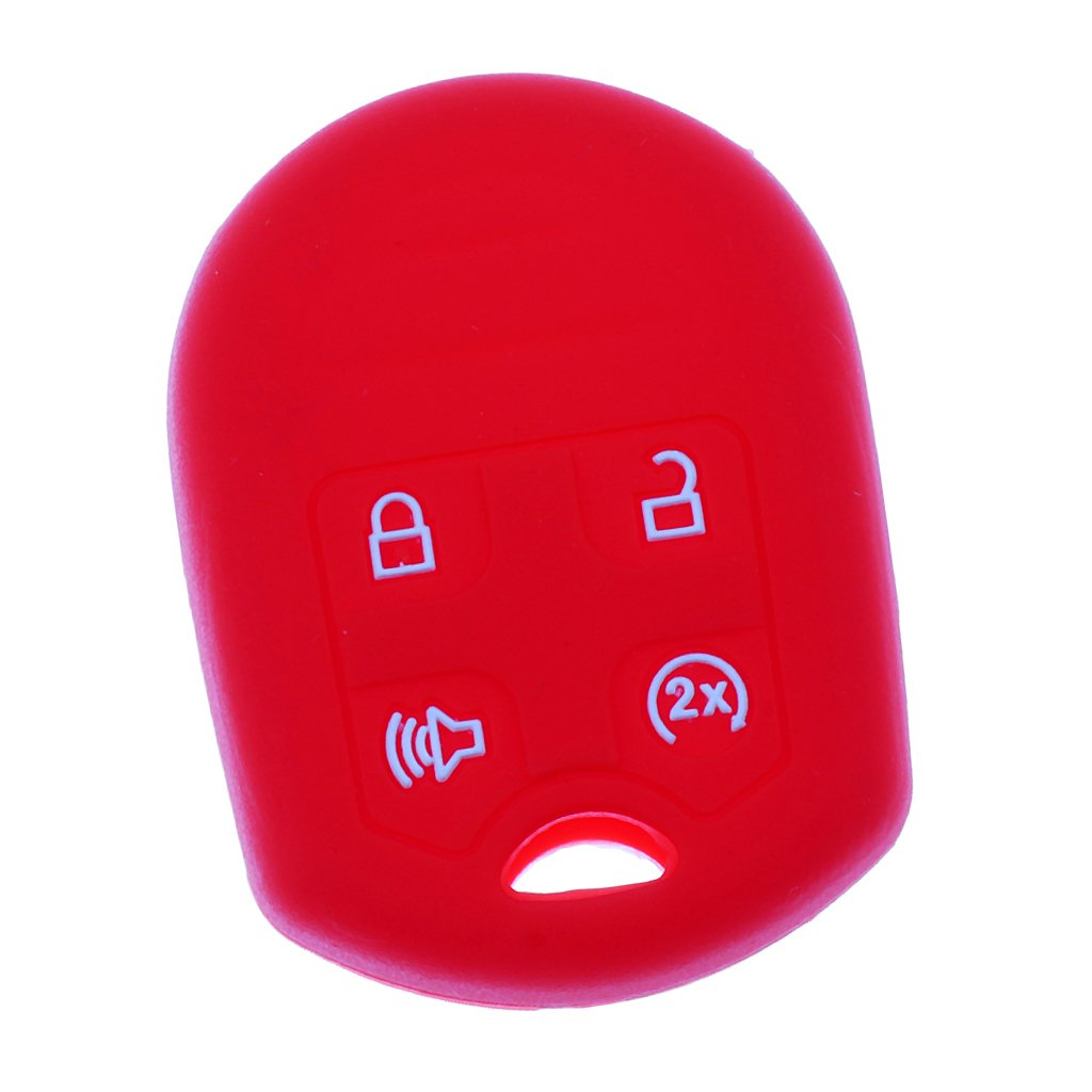 Dolity Car Smart Remote Key Fob Case Cover Antiscratch Housing for Ford F-150 SVT Raptor - Luminous White